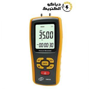 مانومتر یا فشارسنج دیجیتالی تفاضلی بنتک مدل BENETECH GM520